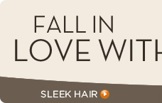 Sleek fall hair