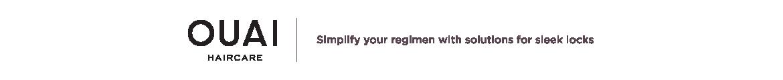 OUAI Simplify your regimen with solutions for sleek locks