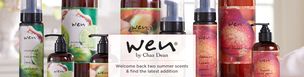 WEN by Chaz Dean Welcome back two summer scents & find the latest addition