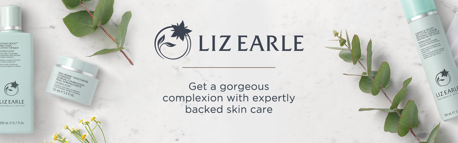 Liz Earle. Get a gorgeous complexion with expertly backed skin care