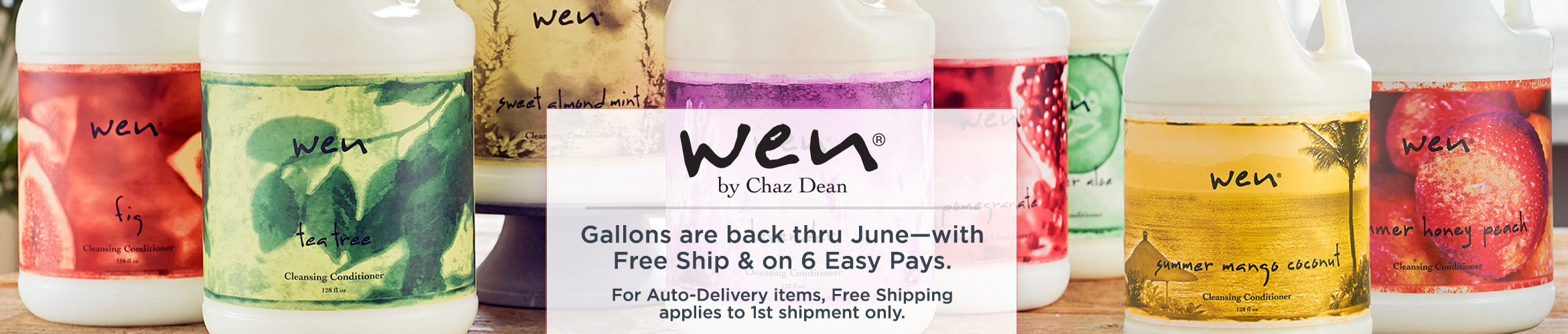 WEN by Chaz Dean. Gallons are back thru June—with Free Ship & on 6 Easy Pays. For Auto-Delivery items, Free Shipping applies to 1st shipment only.