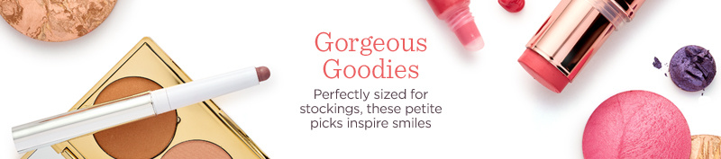 Gorgeous Goodies  Perfectly sized for stockings, these petite picks inspire smiles