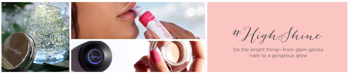 #HighShine  Do the bright thing—from glam glossy nails to a gorgeous glow