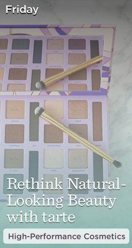 Friday  Rethink Natural-Looking Beauty with tarte  High-Performance Cosmetics
