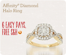 Affinity(R) Diamond Halo Ring