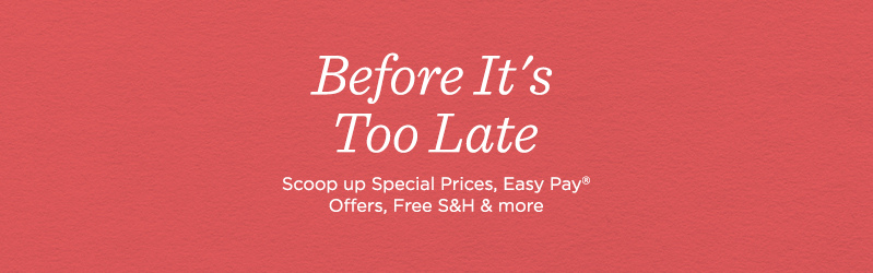 Before It's Too Late, Scoop up Special Prices, Easy Pay® Offers, Free S&H & more