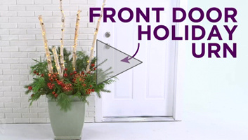 Front-Door Holiday Urn