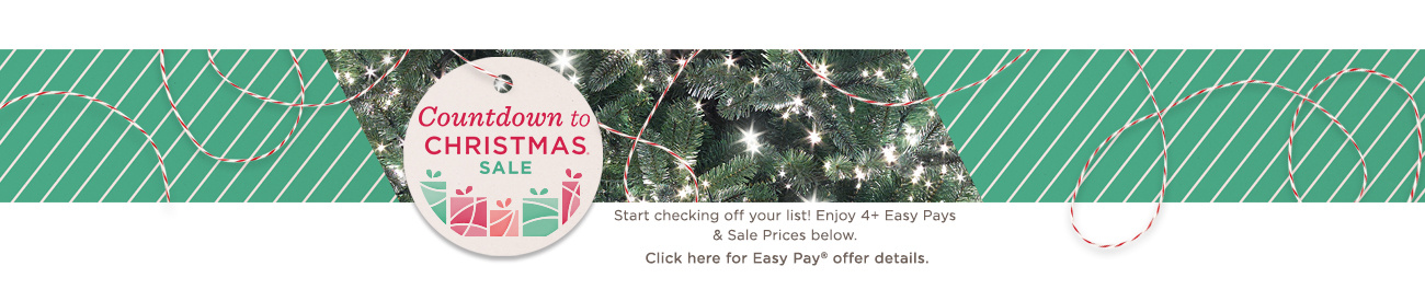Countdown to Christmas® Sale. Start checking off your list! Enjoy 4+ Easy Pays & Sale Prices below. Click here for Easy Pay® offer details.
