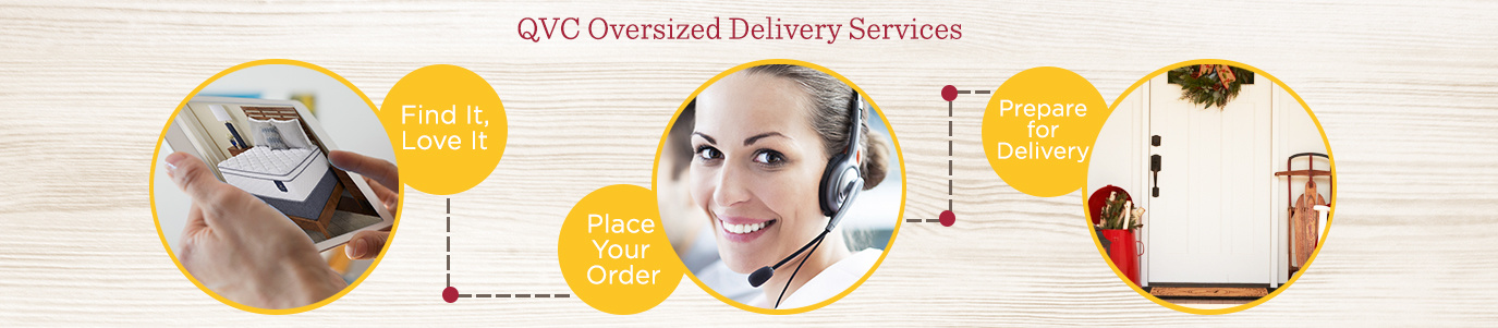 QVC Oversized Delivery Services. Find It, Love It  Place Your Order  Prepare for Delivery