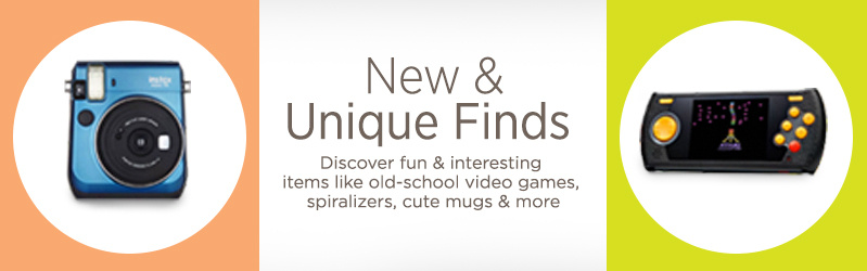 New & Unique Finds. Discover fun & interesting items like old-school video games, spiralizers, cute mugs & more.