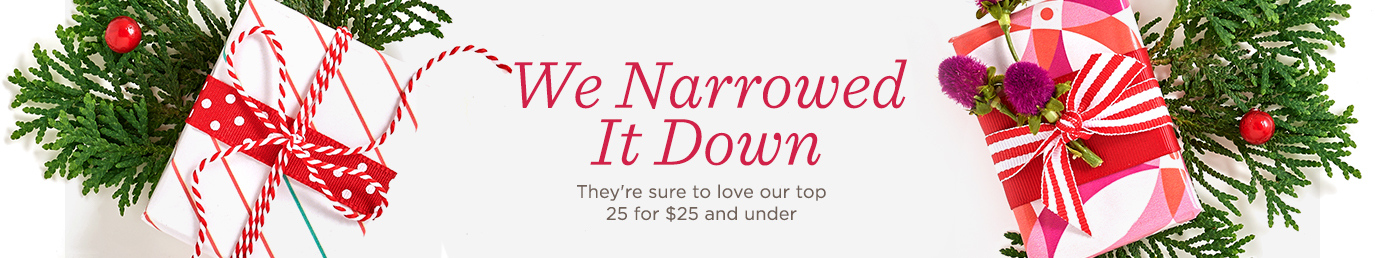 We Narrowed It Down. They're sure to love our top 25 for $25 and under