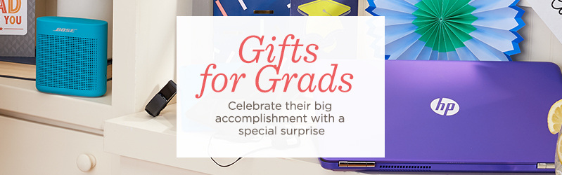 Gifts for Grads Celebrate their big accomplishment with a special surprise