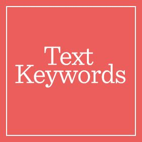 Text Keywords