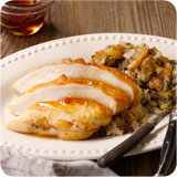 Brined Turkey Breast with Sausage Stuffing & Cider Glaze