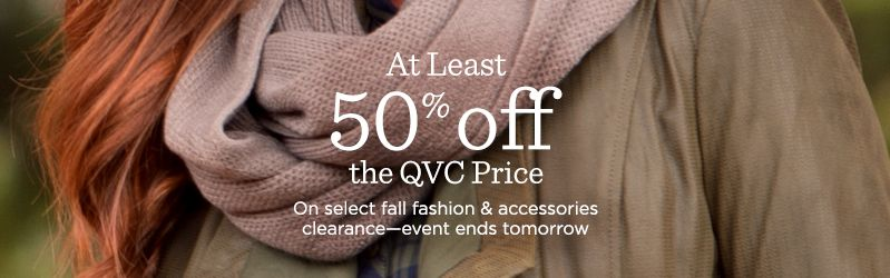 At Least 50% off the QVC Price
