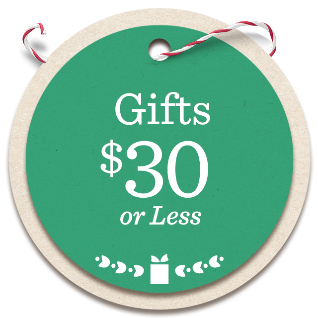 Gifts $30 or Less