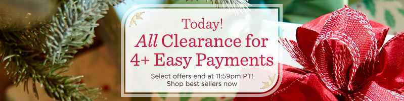 All Clearance for 4+ Easy Payments