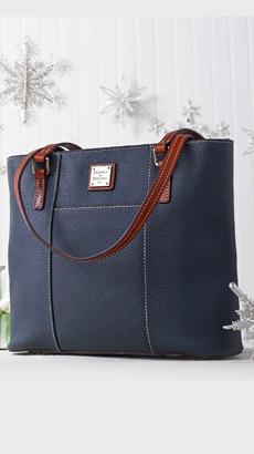 Dooney & Bourke Pebble Leather Small Lexington Shopper