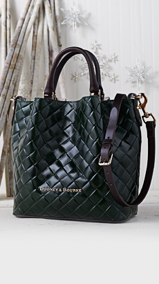 Dooney & Bourke Small Woven Embossed Leather Barlow Satchel