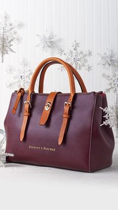 Dooney & Bourke Embossed Pebble Leather Miller Satchel