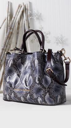 Dooney & Bourke City Python Embossed Leather Barlow Satchel
