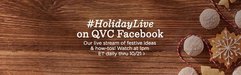 #HolidayLive on QVC Facebook,Live stream 1pm ET today! Plus, shop Holiday Gift Guide