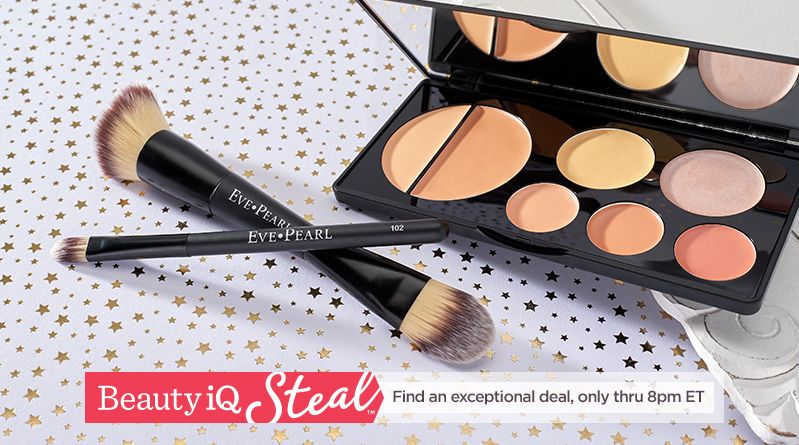 Beauty iQ Steal™ Find an exceptional deal, only thru 8pm ET Eve Pearl Flawless Face Contour Palette and Brushes