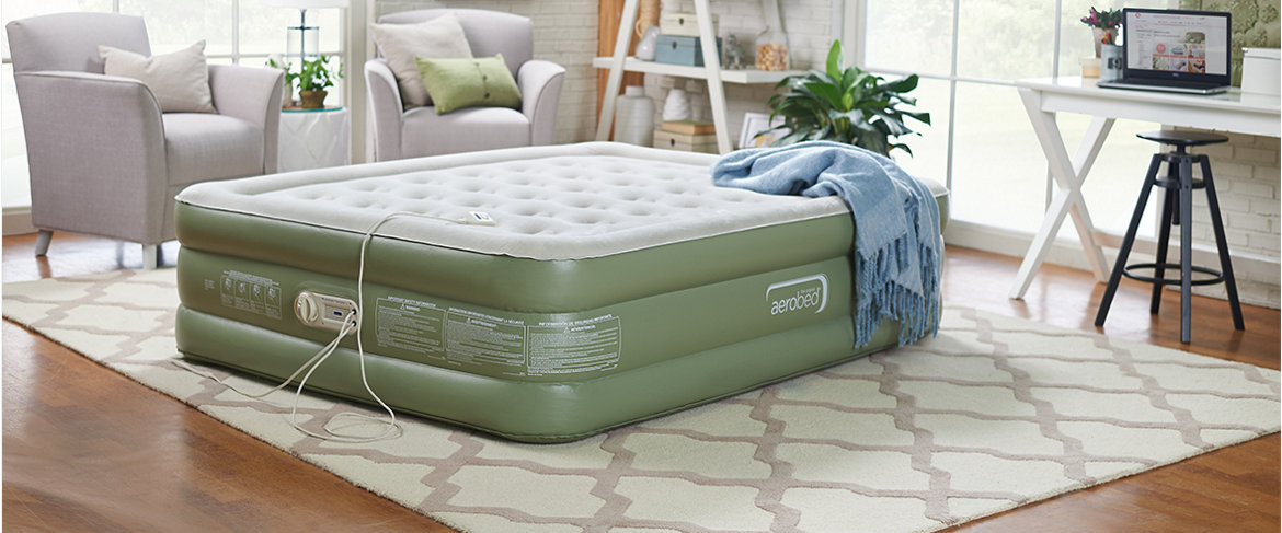 Qvc Aerobed 18 Elevated Air Mattress W Antimicrobial Sleep Surface