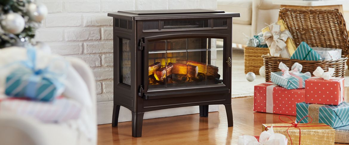 QVC) Duraflame Infrared Quartz Stove Heater with 3D Flame Effect ...