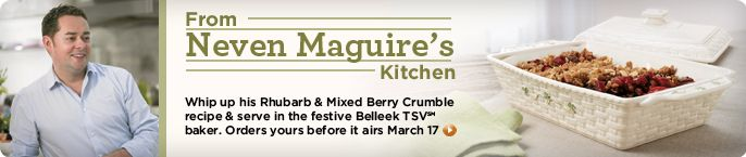 Neven Maguire's Rhubarb & Mixed Berry Crumble
