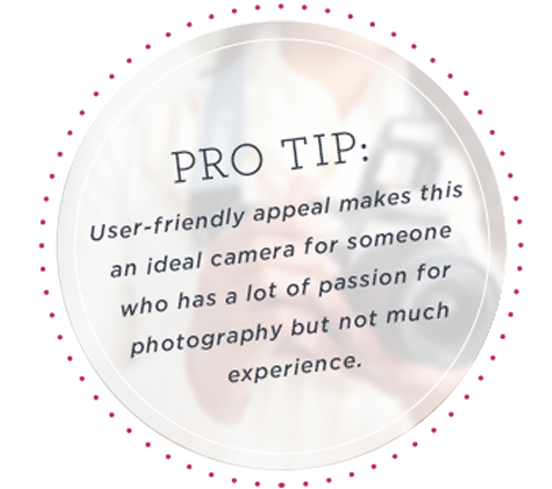 Pro Tip: Holidays get hectic, especially when you're hosting. Assign a designated photographer so you can concentrate on the foodPro Tip: User-friendly appeal makes this an ideal camera for someone who has a lot of passion for photography but not much experience.