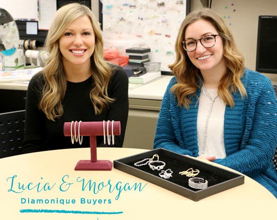 Lucia & Morgan. Diamonique Buyers