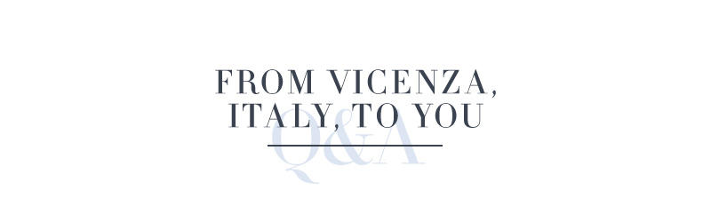 From Vicenza, Italy, to You