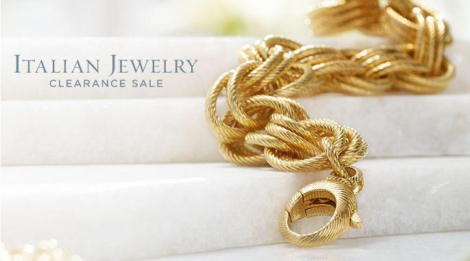 Italian Jewelry Clearance Sale Jewelry QVCcom