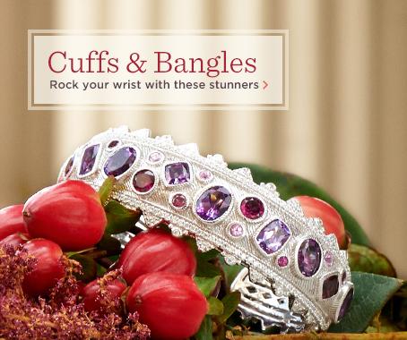 Judith Ripka Sterling Multi-Gemstone Cuff Bracelet