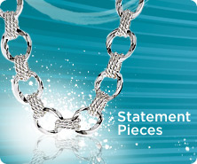 Sterling bold twisted status link necklace