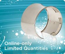 Sterling wide cuff bracelet