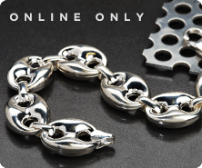 Sterling fancy link bracelet