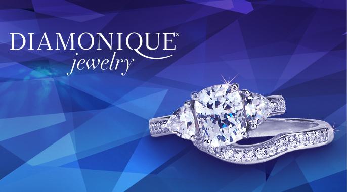 Epiphany(R) Diamonique(R) 100-Facet Bridal Ring Set