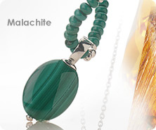 Sterling malachite station necklace with pendante