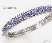 Sterling tanzanite pave bangle
