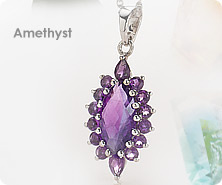 Sterling amethyst enhancer