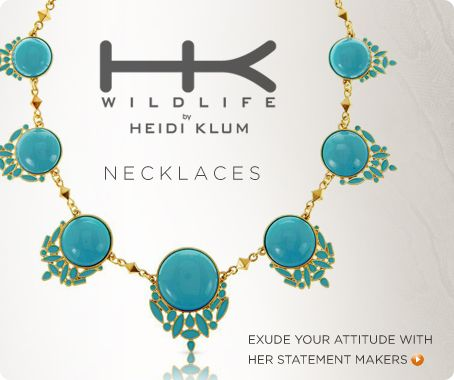 Wildlife by Heidi Klum Enamel Santorini Necklace