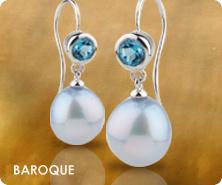 Honora sterling cultured pearl baroque & gemstone earrings