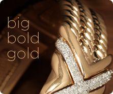 X-Design Diamond Cuff, 14K Gold