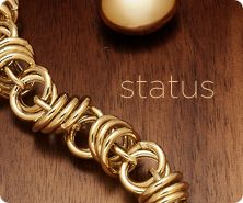 Status Link Bracelet & Necklace, 14K Gold