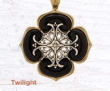 Carolyn Pollack Twilight sterling/brass enhancer