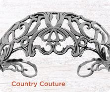 Carolyn Pollack Country Couture sterling cuff