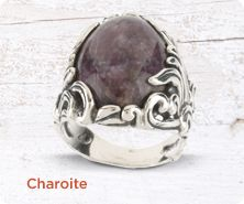 Carolyn Pollack Charoite sterling ring