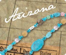 Sterling American gemstone bead necklace